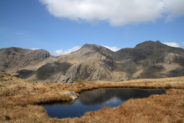 The Scafells from near High Gait Crags