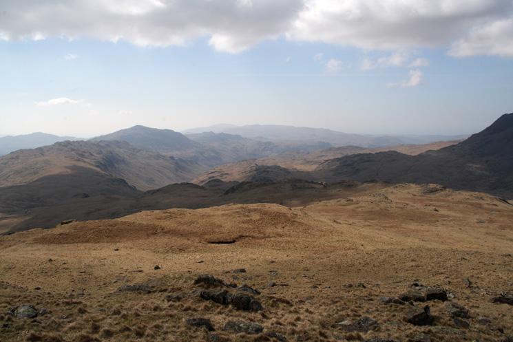 Looking back down the ridge from Pike de Bield Moss