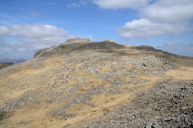 Esk Pike's summit from Pike de Bield