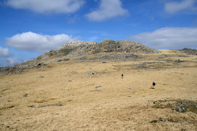 Heading for Esk Pike's summit