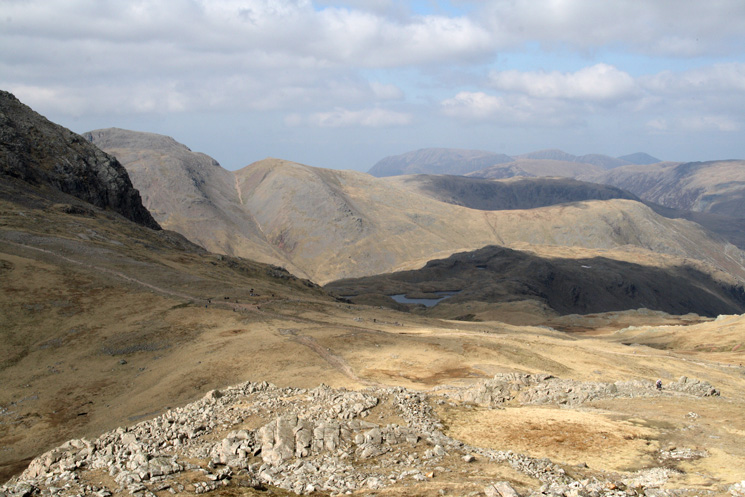 Esk Hause from our descent off Esk Pike