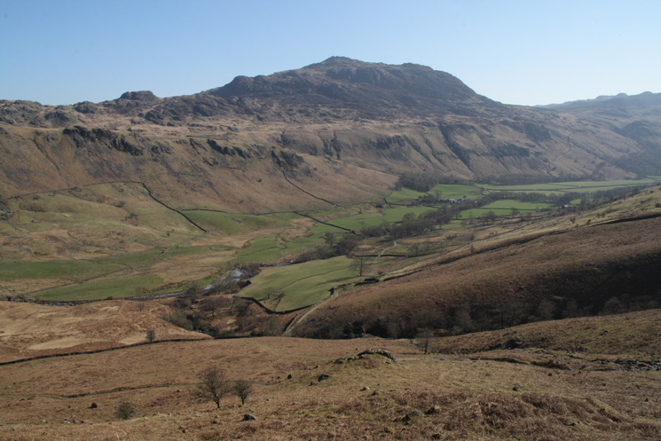 Looking across Eskdale to Harter Crag from the top of the Cowcove zig-zags