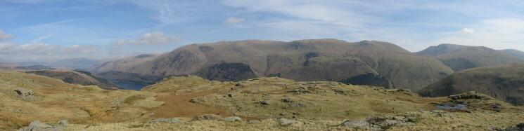 Helvellyn ridge panorama