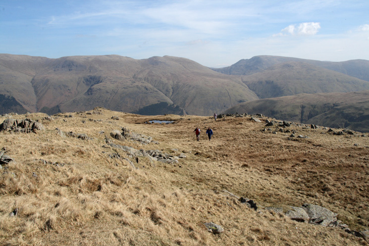 Nethermost Pike, Dollywaggon Pike and Fairfield from near Black Knott