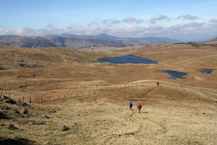 The biggest body of water is Blea Tarn (one of three so named in the Lake District)