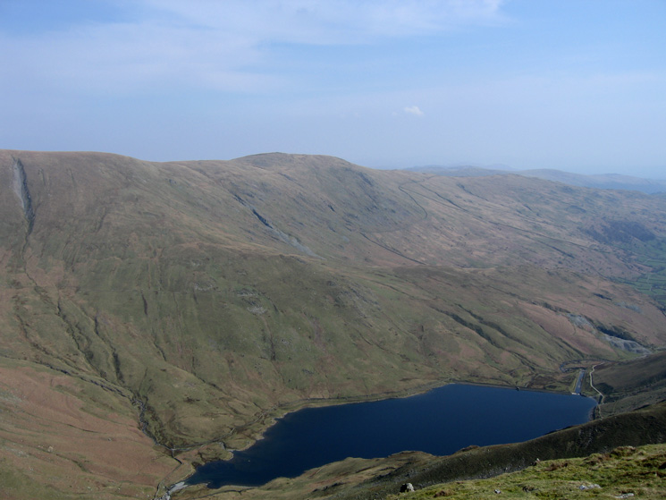 Kentmere Pike seen across Kentmere Reservoir