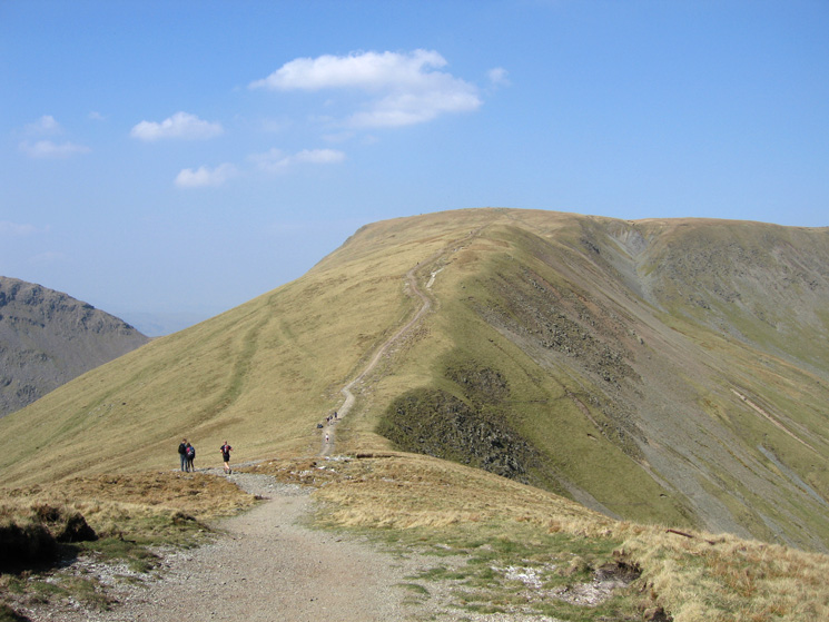 The new path up Thornthwaite Crag from its col with Froswick