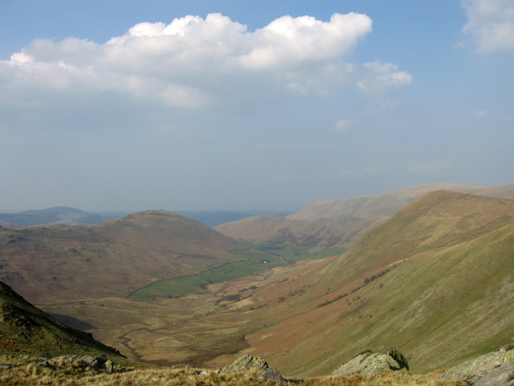 Bannerdale with Beda Fell on the left and The Nab on the right
