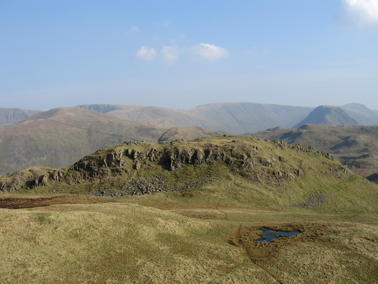 The southern pike from the northern and higher pike of Angletarn Pikes