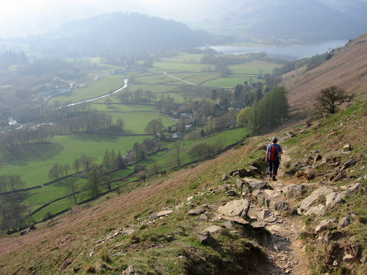 Descending to Patterdale from Boredale Hause, the end is in sight!