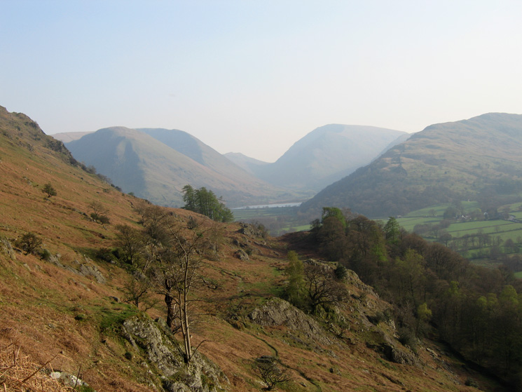 The view to the south - Hartsop Dodd, Caudale Moor, Red Screes and Hartsop Above How surrounding Brothers Water