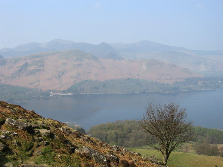 Looking across Derwent Water to Catbells and the north western fells