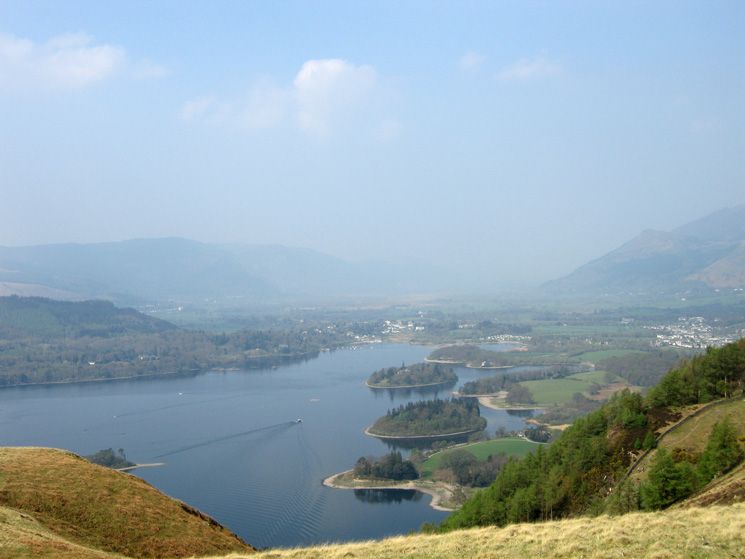 Derwent Water from above Cat Gill