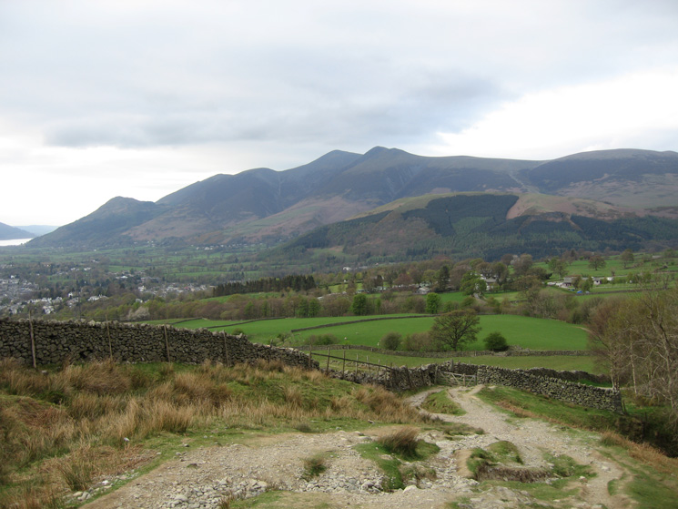 Skiddaw from above Rakefoot