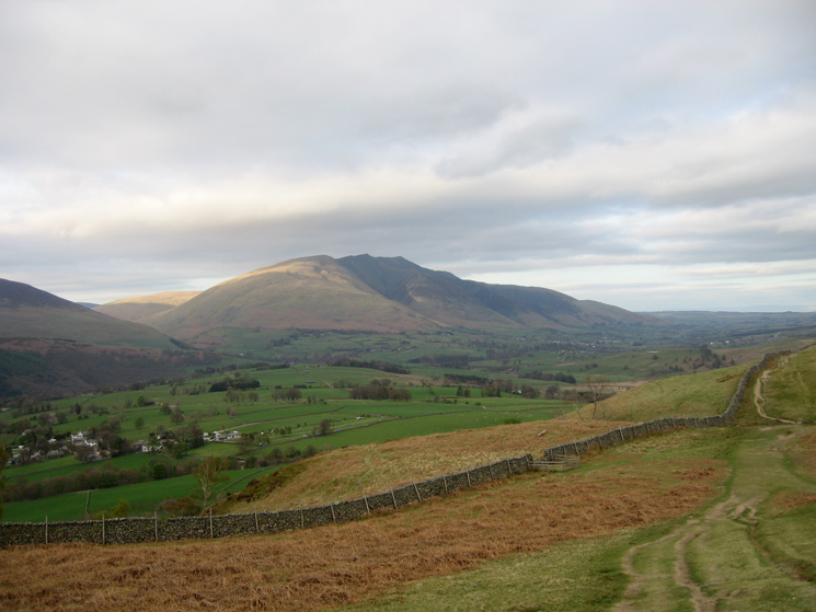 Another view of Blencathra as we head for Walla Crag's summit