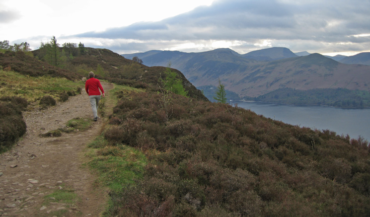 The path along the top of Walla Crag