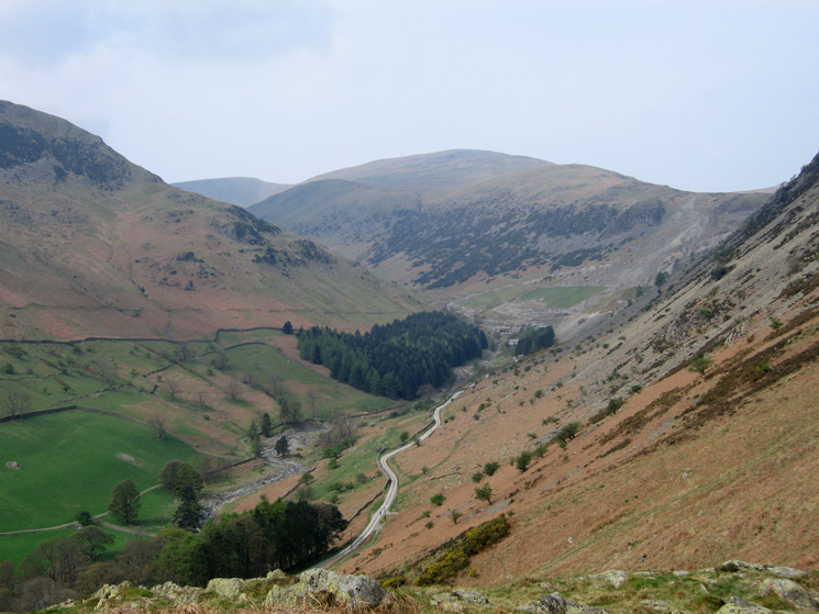 Looking up Glenridding to Raise from above Blaes Crag