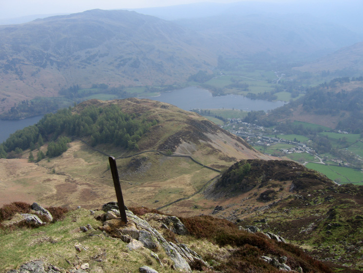 Looking back down on Glenridding Dodd from Heron Pike
