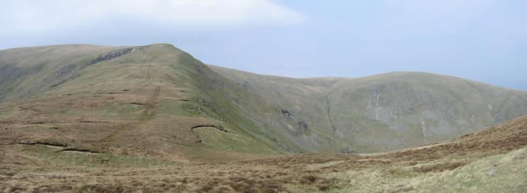 Green Side (l) and Hart Side (r) from near Nick Head