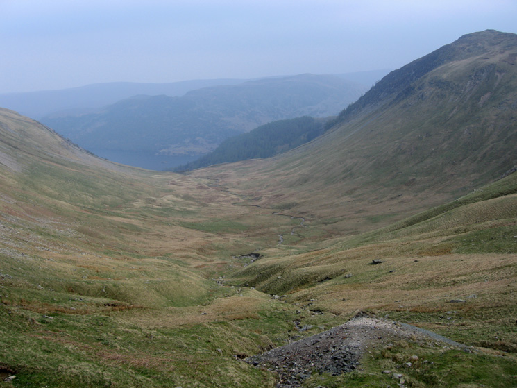Glencoyne with Sheffield Pike on the right from the balcony path