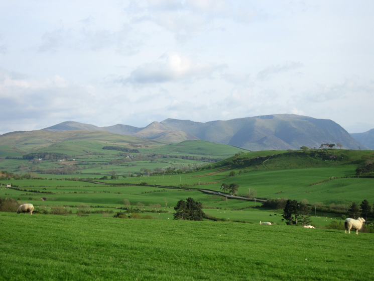Looking south to the Grasmoor Fells