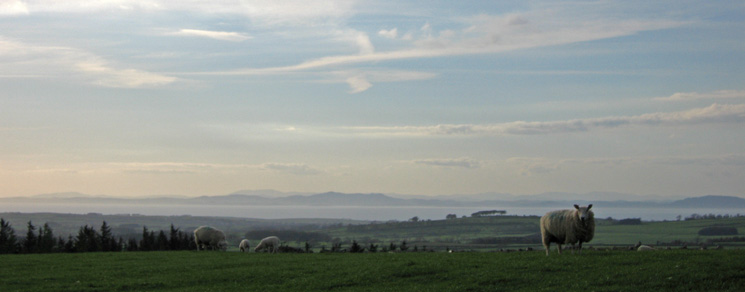 Looking across the Solway Firth into Scotland from Watch Hill