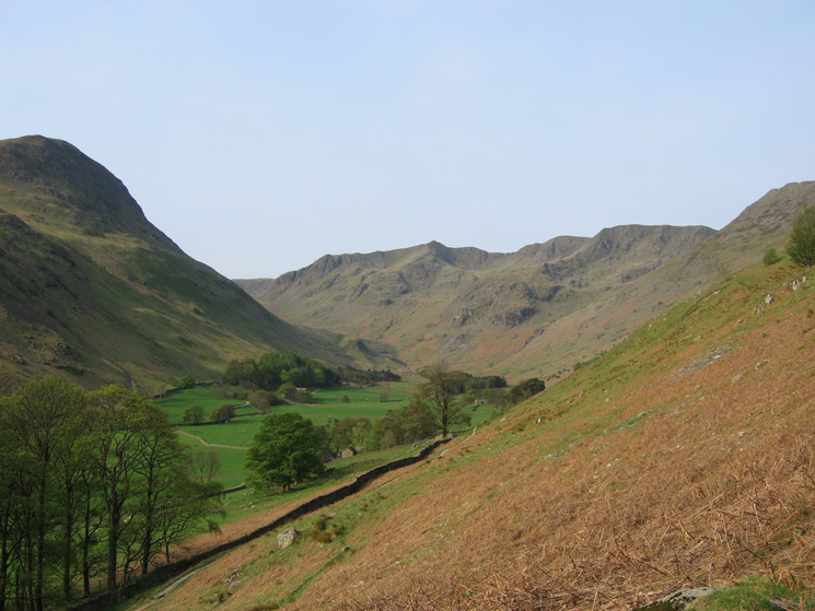 Grisedale with Saint Sunday Crag on the left and Dollywaggon and Nethermost Pikes straight ahead