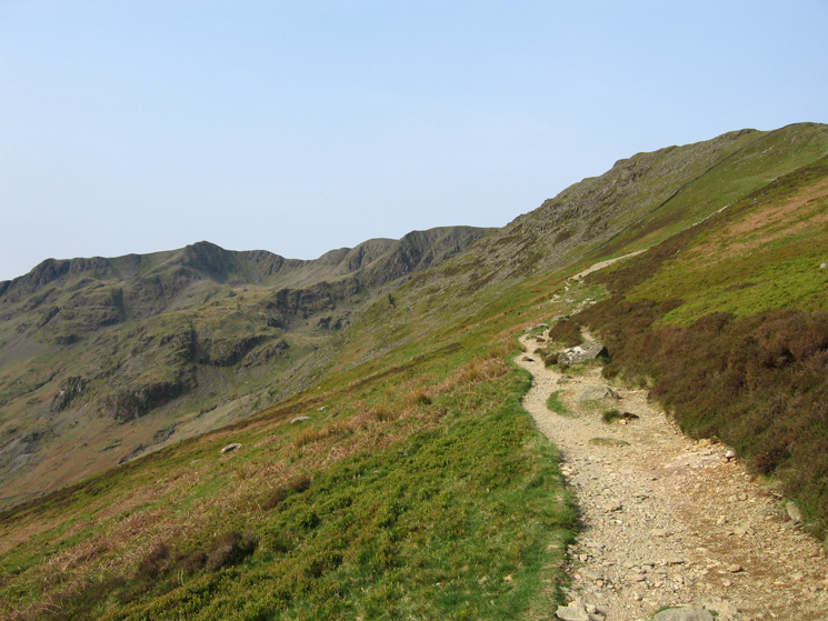 Dollywaggon Pike and Nethermost Pike from the path to the Hole-in-the-Wall