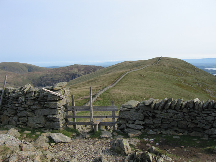 Birkhouse Moor from the Hole-in-the-Wall