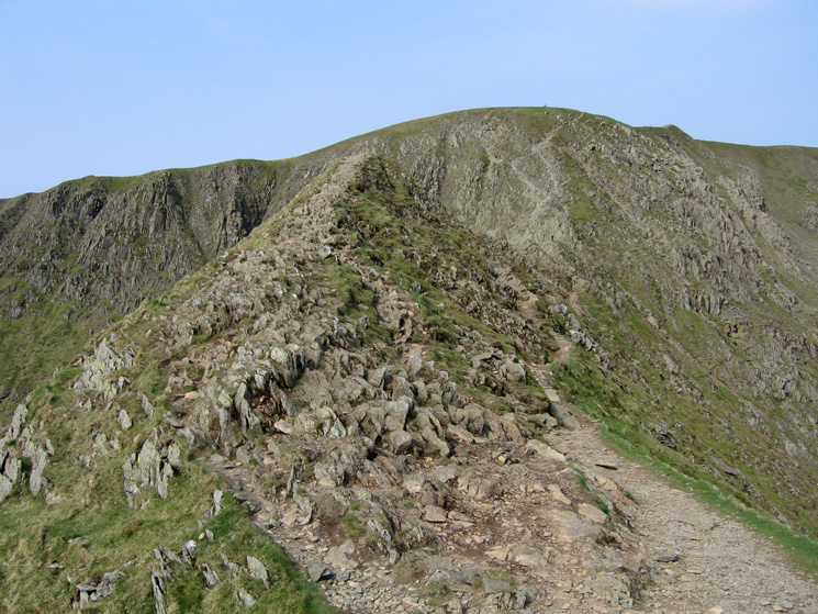 You don't have to walk/scramble along the crest of the ridge all the way if you don't want to!
