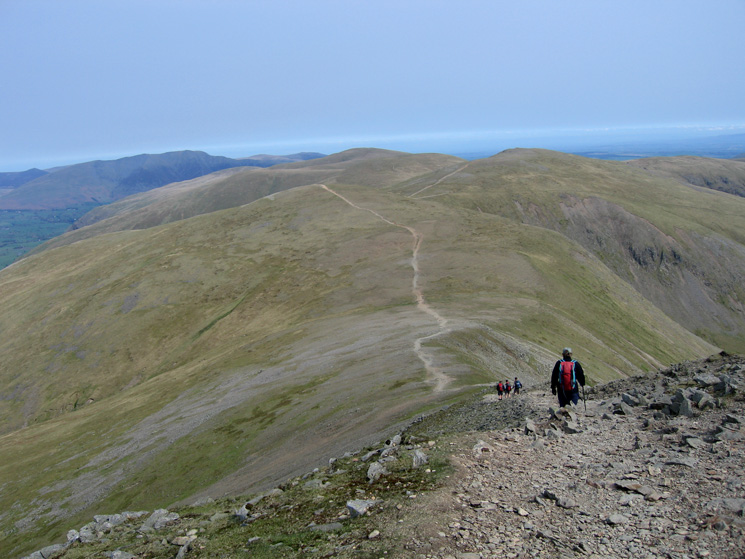 Descending from Helvellyn Lower Man with White Side ahead