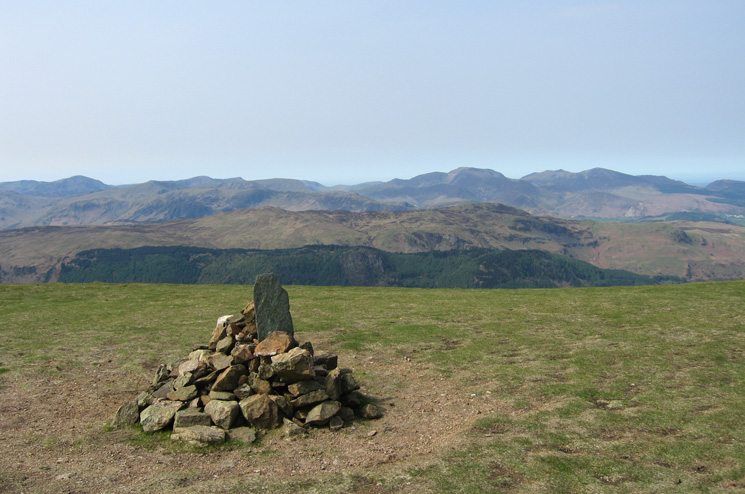 The view west from Stybarrow Dodd's summit