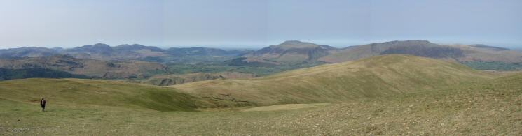 Heading for Calfhow Pike and Clough Head from Great Dodd