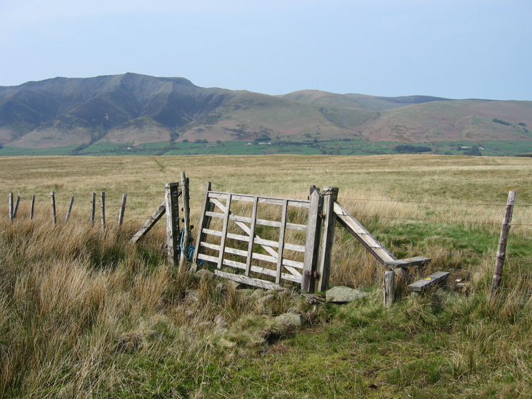 The stile and gate at NY362237 as we join the bridleway to Lobbs