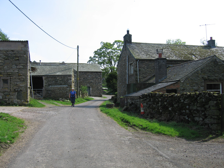 Walking through Wallthwaite