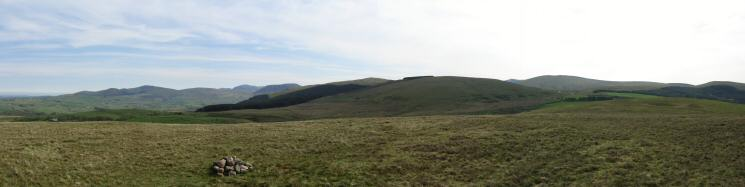 Easterly panorama from Flat Fell's summit