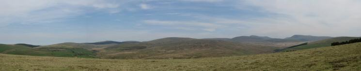 North easterly panorama from Cold Fell