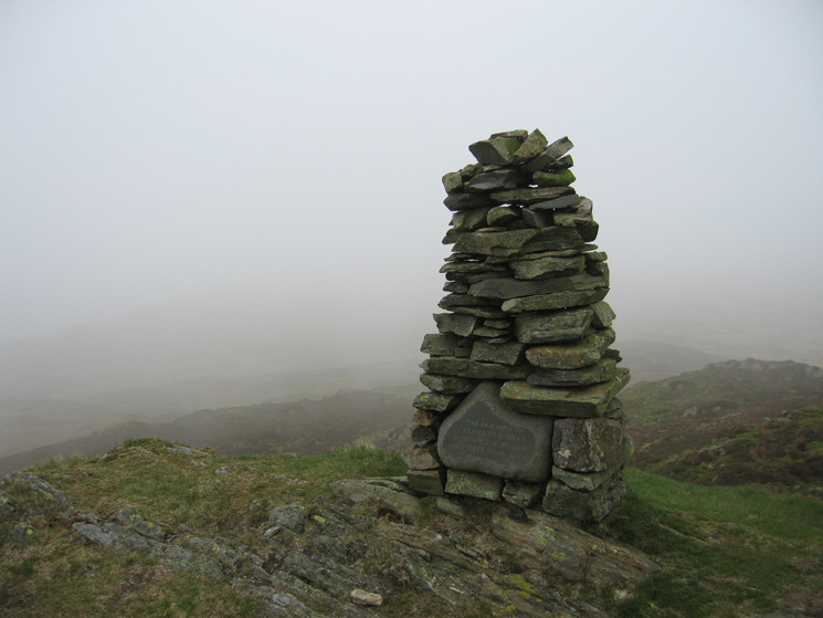 Whiteside Pike summit cairn