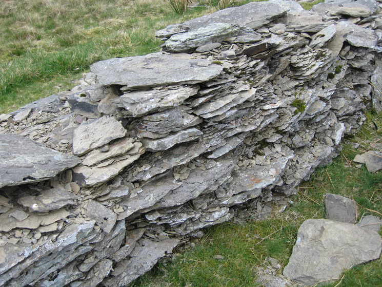 The wall is made of Bannisdale slate