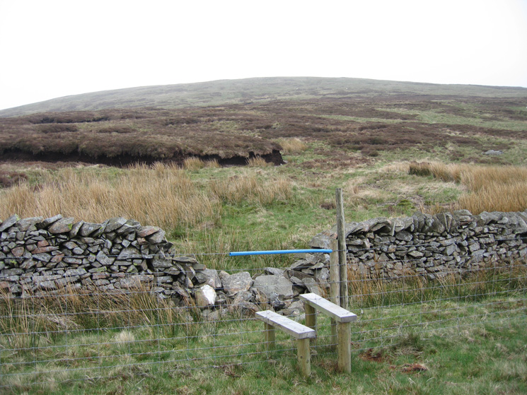Stile across the fence to the south of White Howe. When AW was writing his Outlying Fells guide there was no stile.