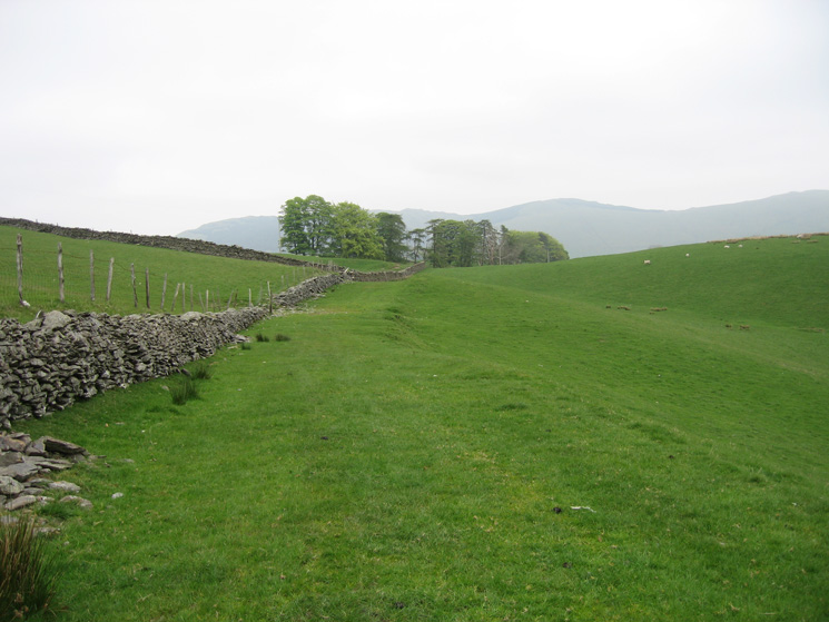Looking back along the bridleway, the old Shap road, as we head for Plough Farm
