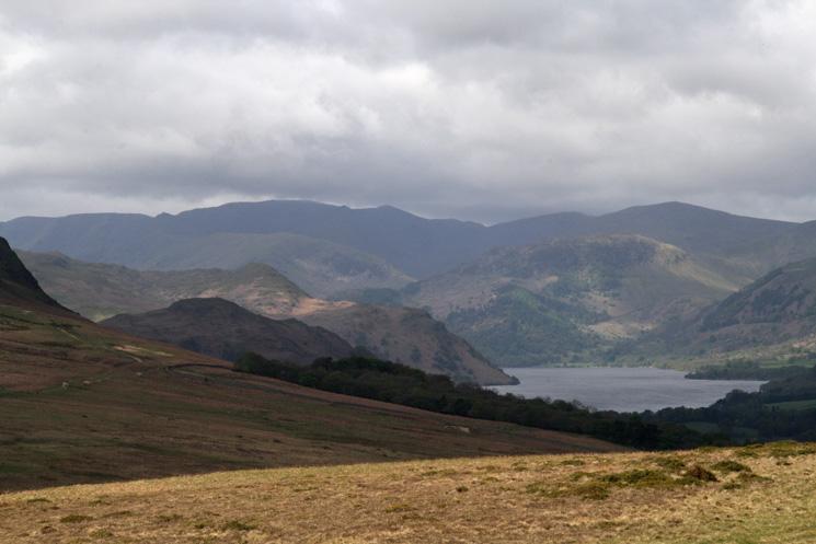 Looking towards Helvellyn from Heughscar Hill