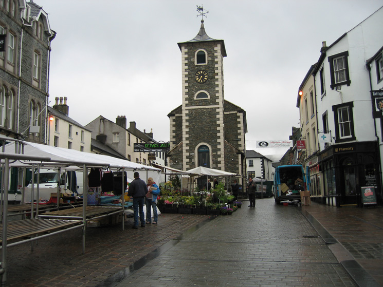 Keswick Moot Hall, 8am and the start of the first of ten ascents of Skiddaw in nine days to 'climb' Everest
