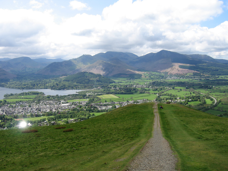 The north western fells from Latrigg as the weather continues to improve