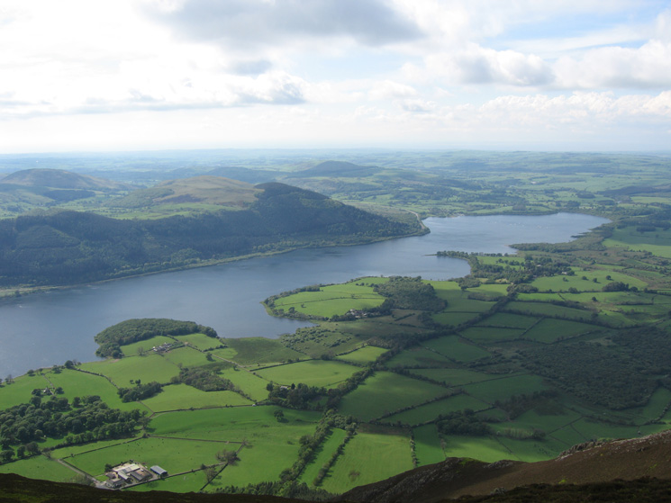The north end of Bassenthwaite Lake from Ullock Pike