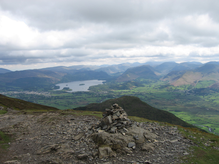 The view south from Ullock Pike's summit