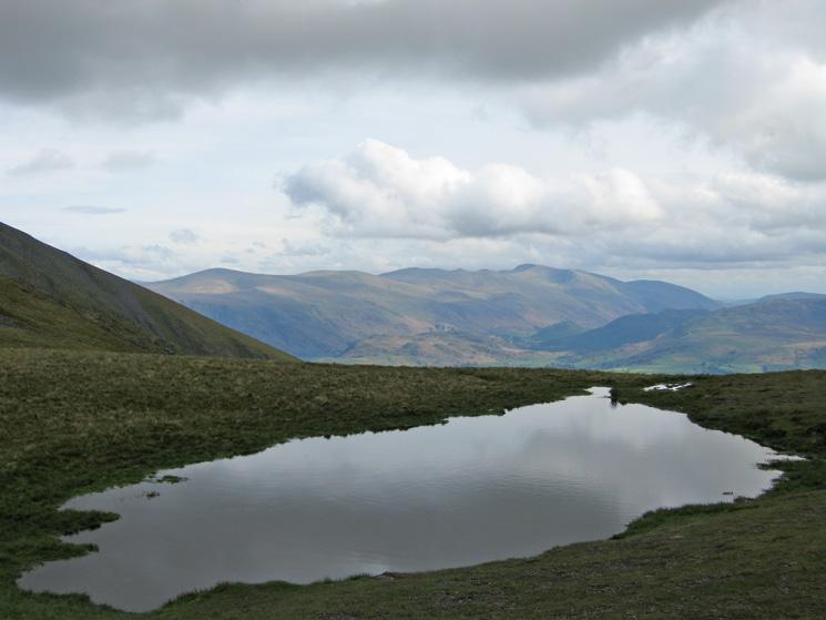 The Helvellyn range from Carlside Tarn