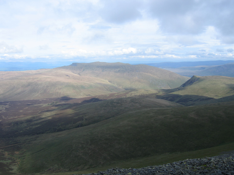 Blencathra with Lonscale Fell on the right from Skiddaw's summit