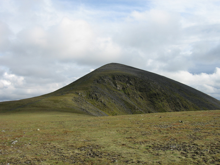Looking back to Skiddaw's north top from Broad End