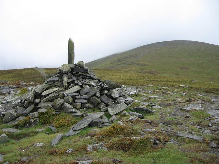 Bakestall's summit cairn but the fence corner 100m further on is actually higher